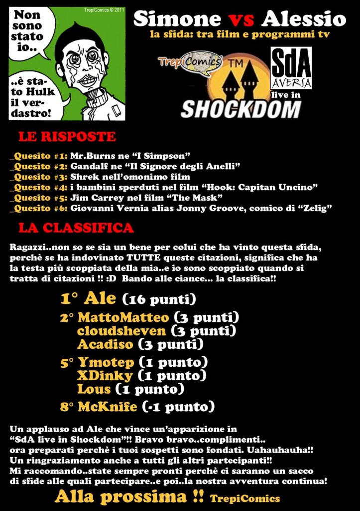 010. SdA live in Shockdom_Ep.06Plus_Classifica
